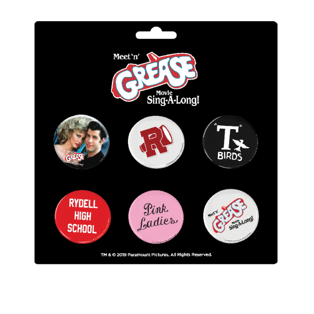 Meet and Grease Movie Sing-A-Long Button Set